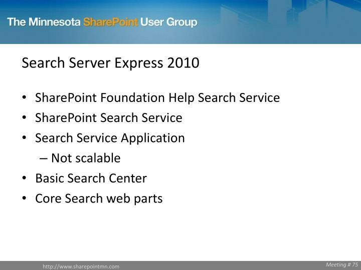 Search Server Express 2010