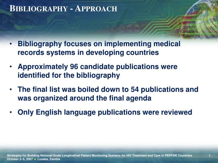 Bibliography - Approach