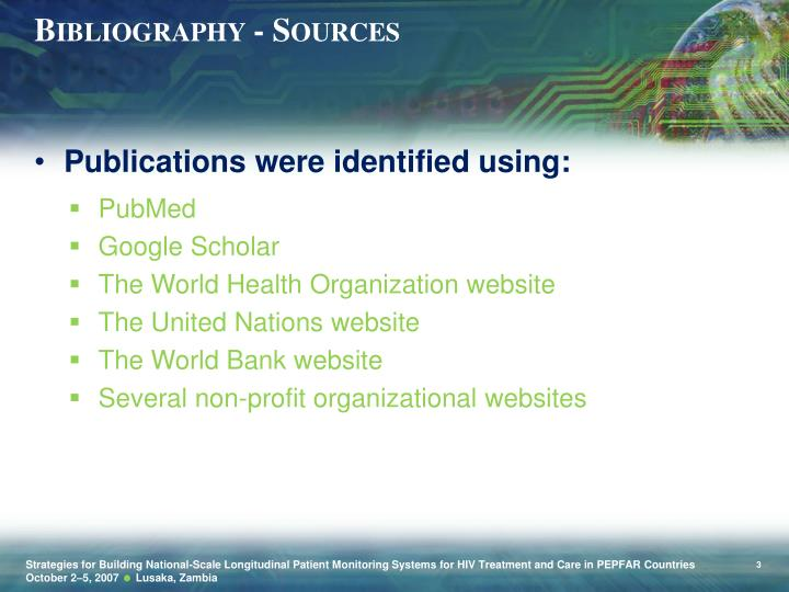 Bibliography - Sources