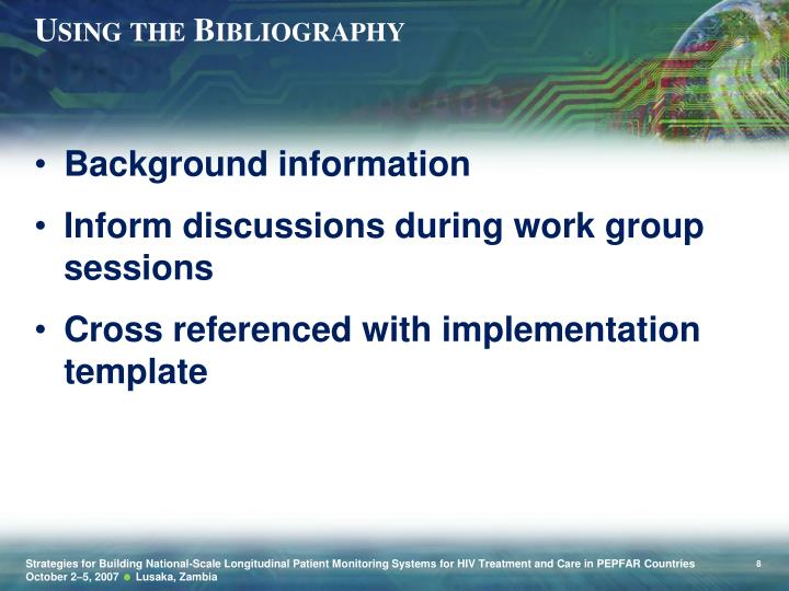 Using the Bibliography
