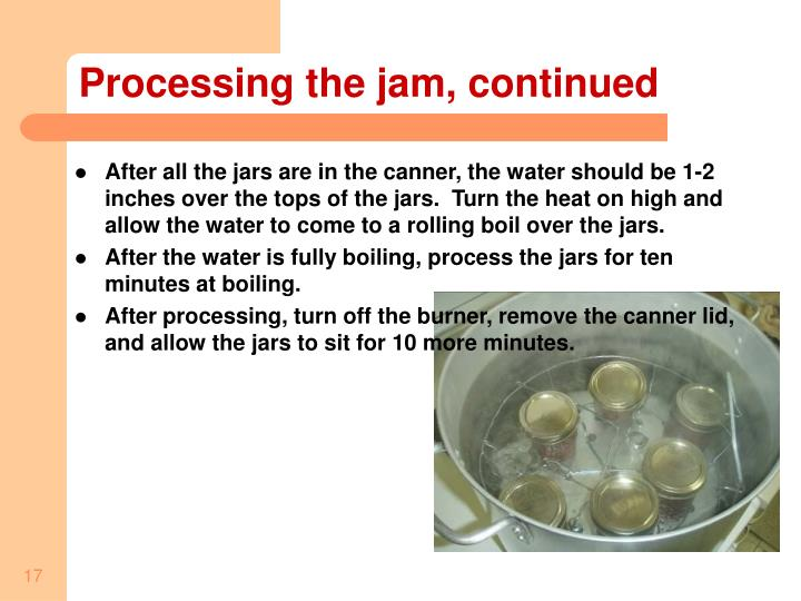 Processing the jam, continued