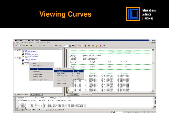 Viewing Curves