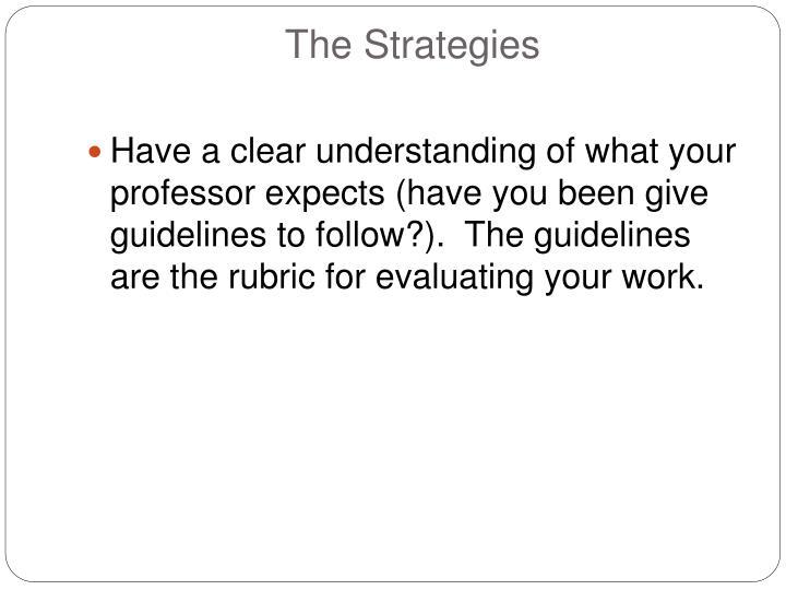 The Strategies
