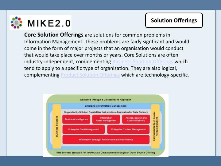 Solution Offerings