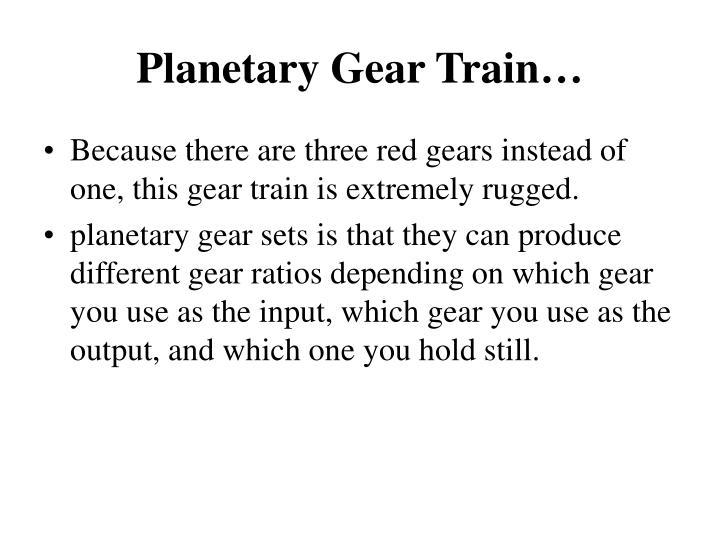 Planetary Gear Train…