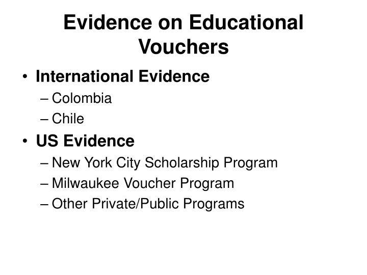 Evidence on educational vouchers