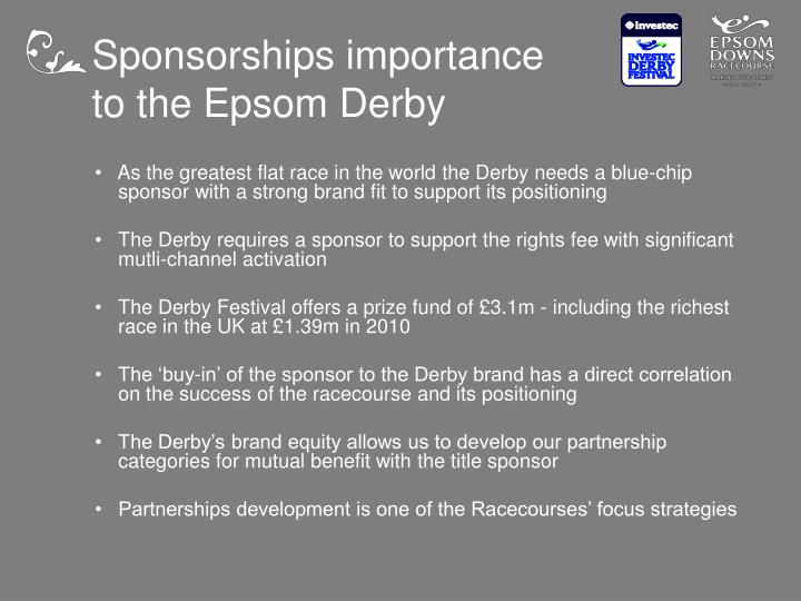 Sponsorships importance