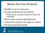 better for you products