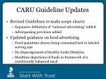 caru guideline updates