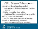 caru program enhancements
