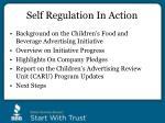 self regulation in action