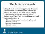 the initiative s goals