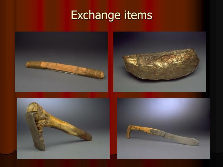Exchange items