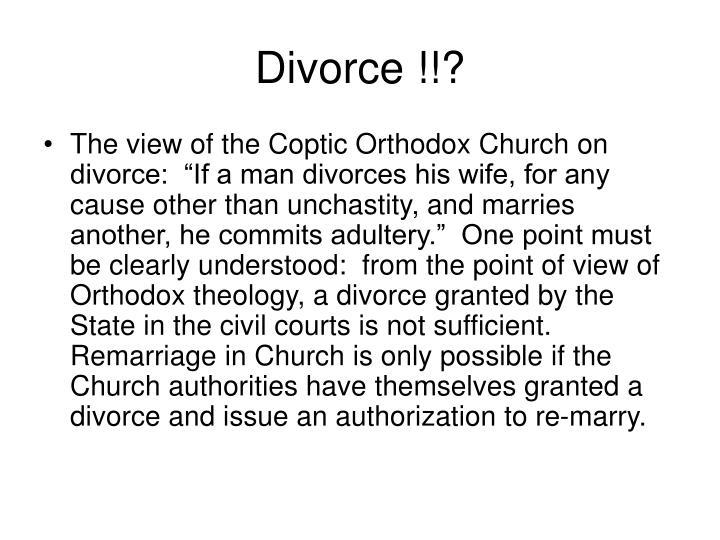 Divorce !!?