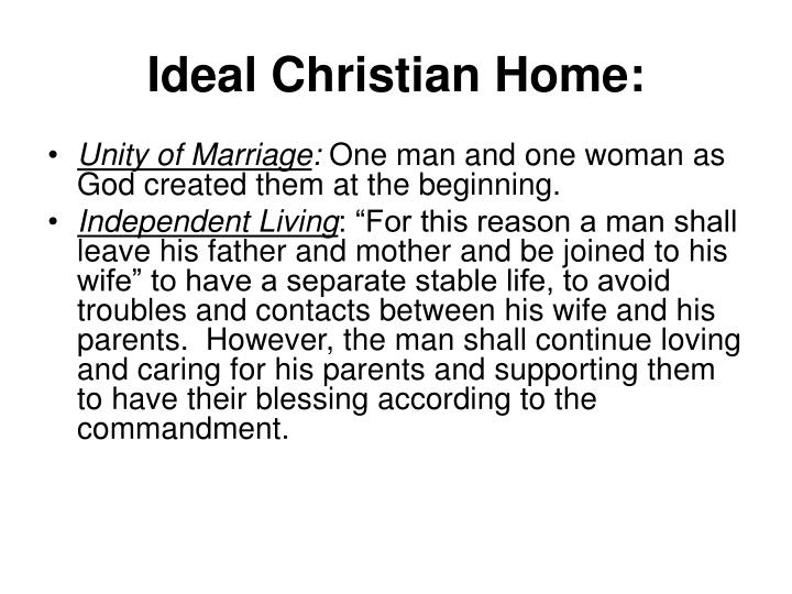 Ideal Christian Home: