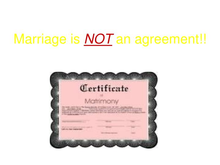 Marriage is
