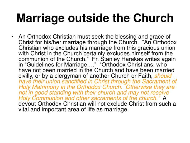 Marriage outside the Church