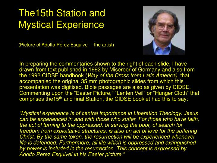 The15th Station and Mystical Experience