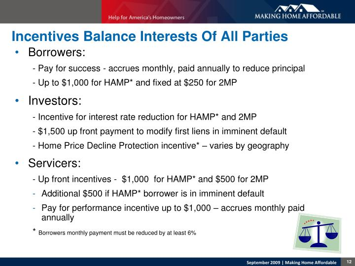 Incentives Balance Interests Of All Parties