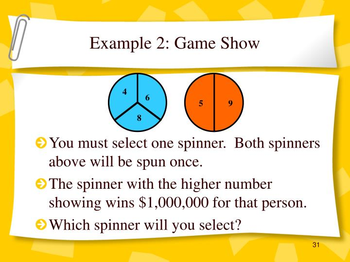 Example 2: Game Show