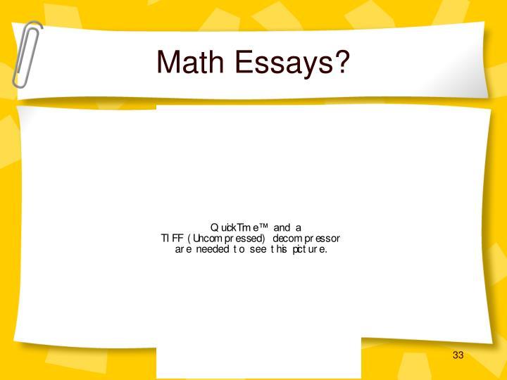 Math Essays?