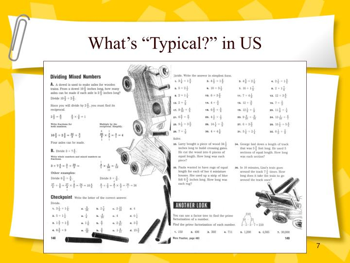 """What's """"Typical?"""" in US"""