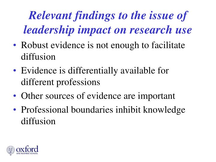 Robust evidence is not enough to facilitate diffusion