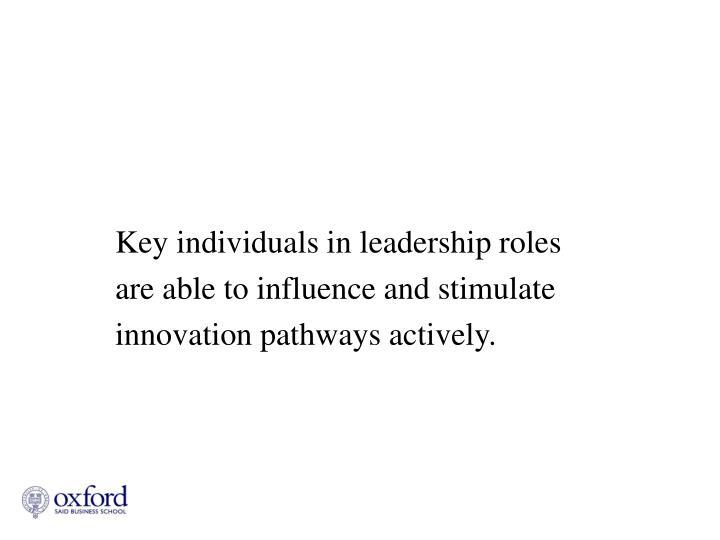 Key individuals in leadership roles