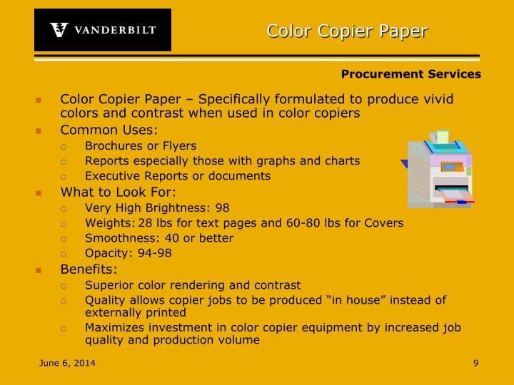 Color Copier Paper