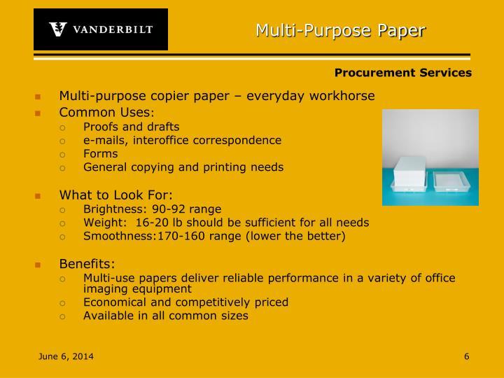 Multi-Purpose Paper