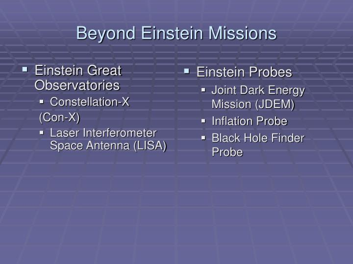 Einstein Great Observatories