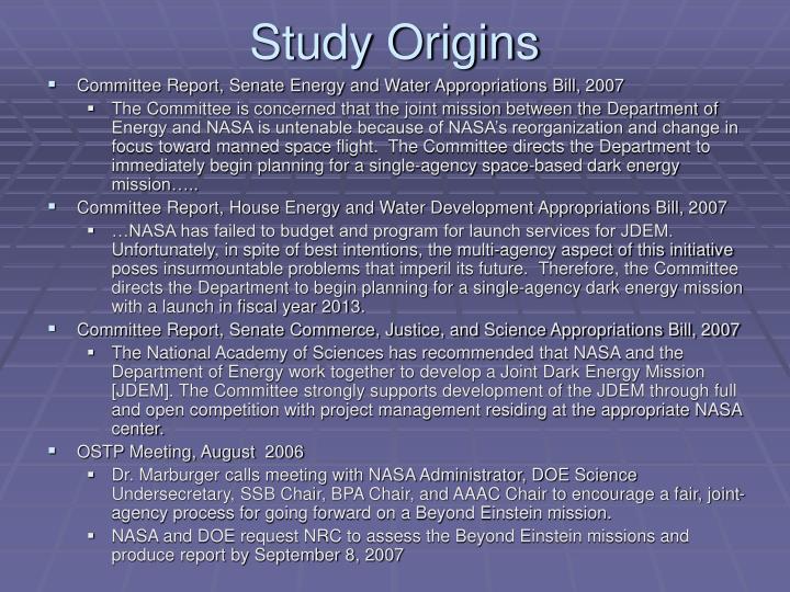 Study Origins