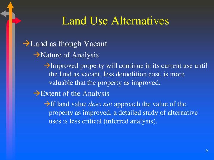Land Use Alternatives