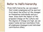 refer to hall s hierarchy