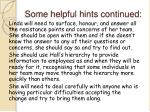 some helpful hints continued1