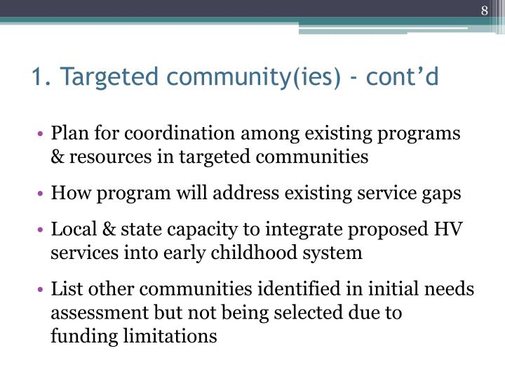1. Targeted community(