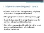 1 targeted community ies cont d