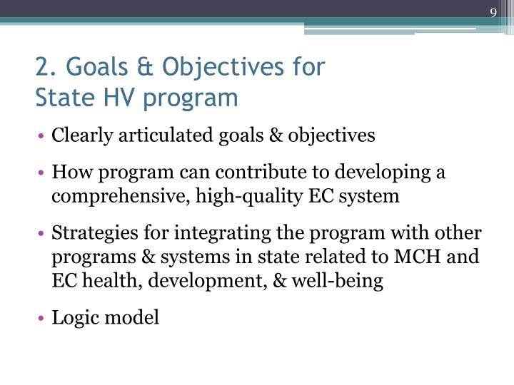 2. Goals & Objectives