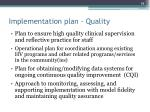 implementation plan quality