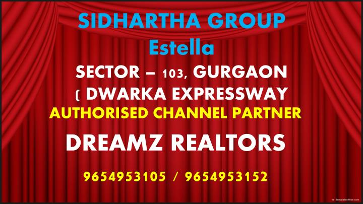 Sidhartha group estella sector 103 gurgaon dwarka expressway