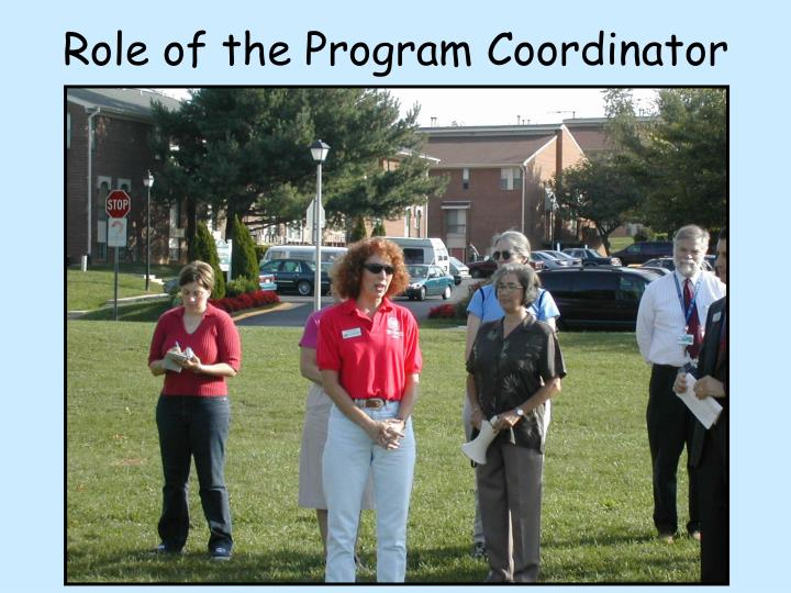 Role of the Program Coordinator