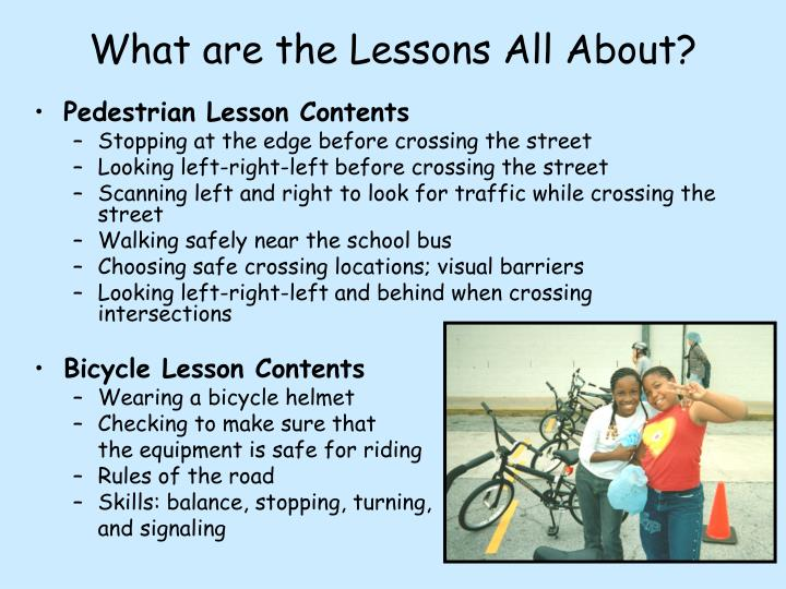 What are the Lessons All About?