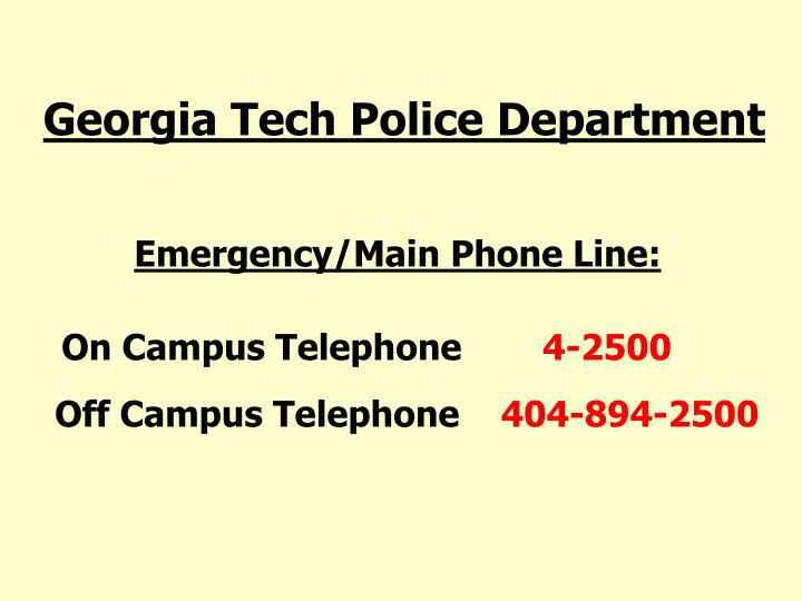 Georgia Tech Police Department