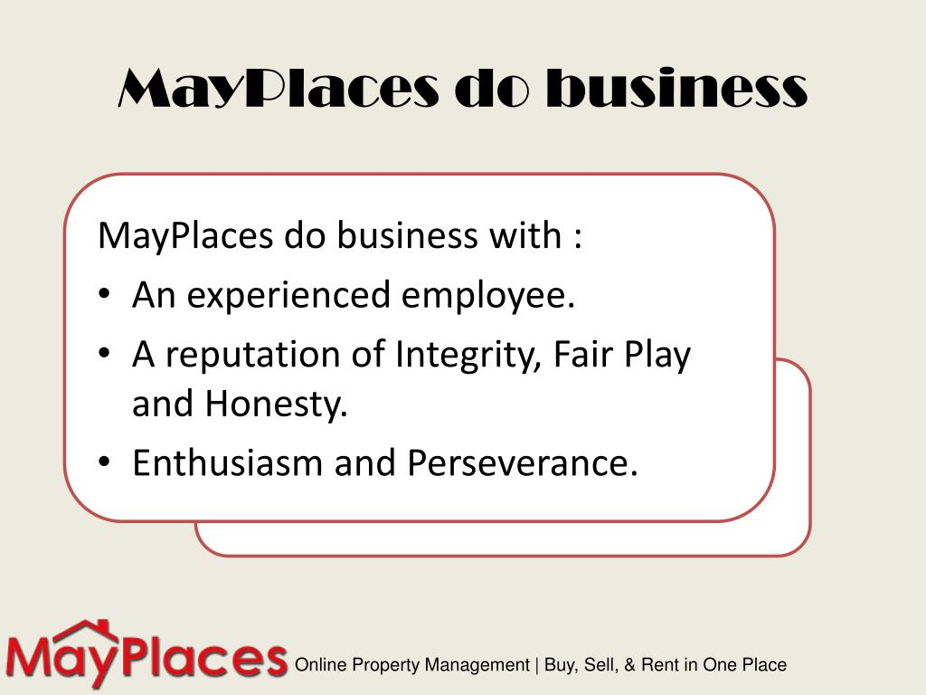MayPlaces do business