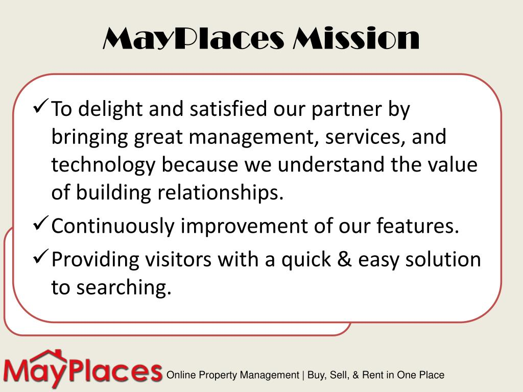 MayPlaces Mission