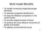 multi modal benefits