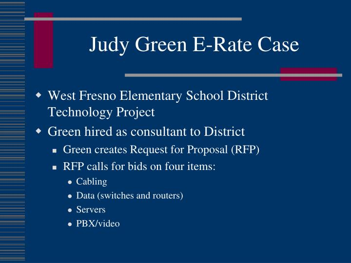 Judy Green E-Rate Case