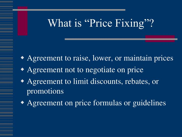 "What is ""Price Fixing""?"