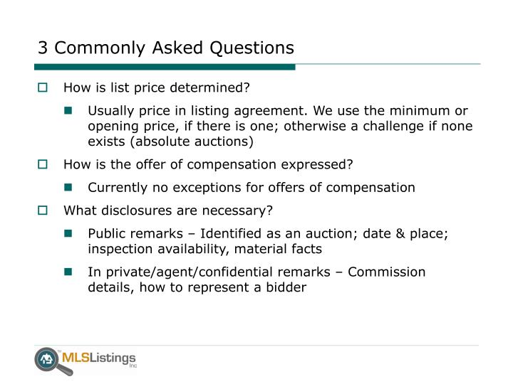 3 Commonly Asked Questions
