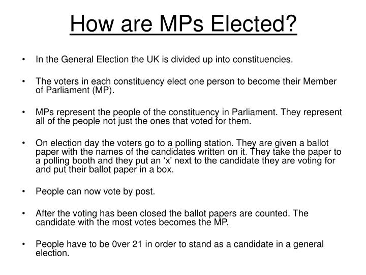 How are MPs Elected?
